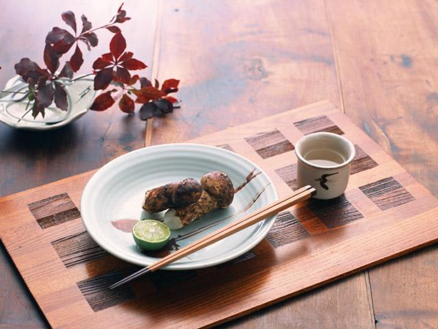 松茸と日本酒