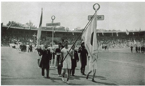 嘉納治五郎師範ストックホルムオリンピック開会式1912年_菊正宗ネットショップブログ